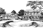 Greek Revival House Plan Front Image of House - 007D-0131 | House Plans and More