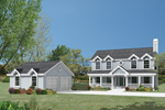 Country Two-Story With Built-In Screened Porch