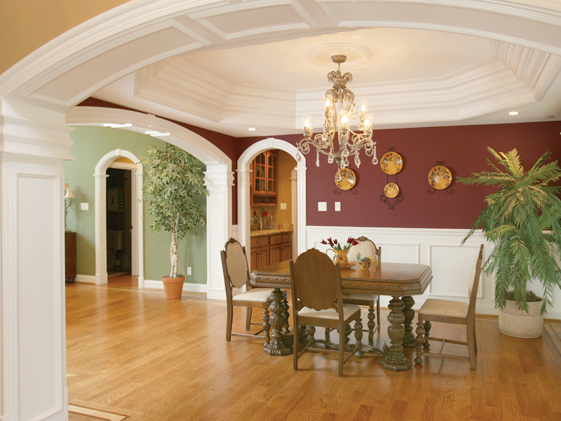 Greek Revival Home Plan Dining Room Photo 02 007D-0132