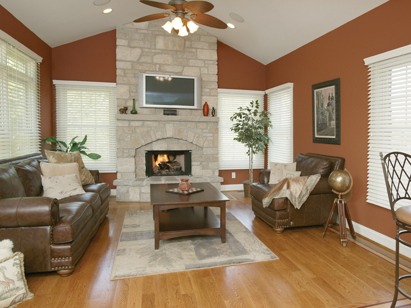 Luxury House Plan Fireplace Photo 02 007D-0132