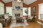 Traditional House Plan Fireplace Photo 02 - 007D-0132 | House Plans and More