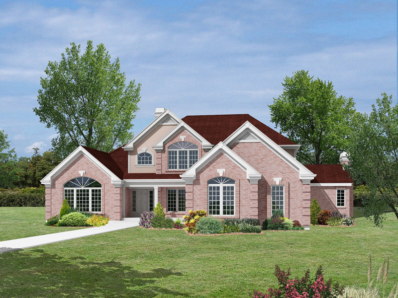 Luxury House Plan Front Image 007D-0132