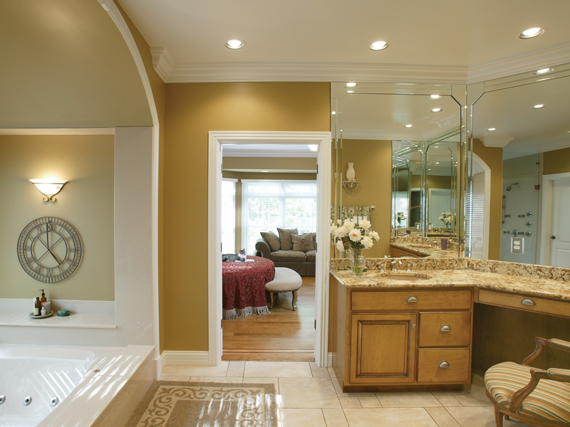 Greek Revival House Plan Master Bathroom Photo 01 007D-0132
