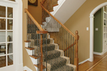 Greek Revival Home Plan Stairs Photo - 007D-0132 | House Plans and More