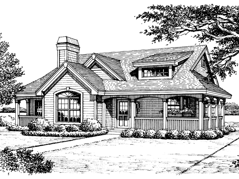 Ranch House Plan Front Image of House - 007D-0133 | House Plans and More