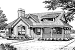 Cabin and Cottage Plan Front Image of House - 007D-0133 | House Plans and More