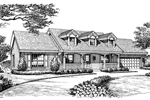 Cape Cod and New England Plan Front Image of House - 007D-0134 | House Plans and More