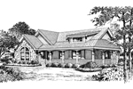 Ranch House Plan Front Image of House - 007D-0135 | House Plans and More