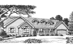 Ranch House Plan Front Image of House - 007D-0136 | House Plans and More