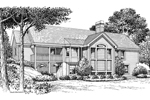 Cape Cod and New England Plan Rear Image of House - 007D-0136 | House Plans and More