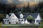 Cabin and Cottage Plan Front Image - 007D-0137 | House Plans and More