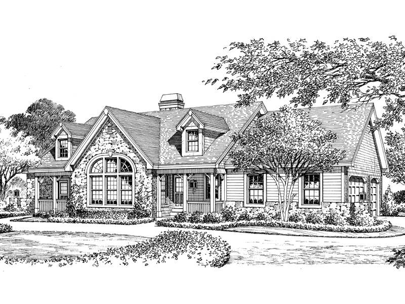 Ranch House Plan Front Image of House 007D-0137