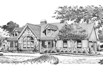 Cabin and Cottage Plan Front Image of House - 007D-0137 | House Plans and More