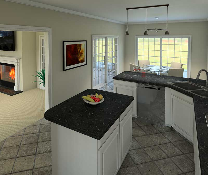 Cabin and Cottage Plan Kitchen Photo 01 007D-0137