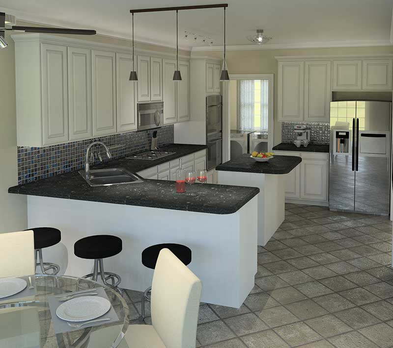 Ranch House Plan Kitchen Photo 02 007D-0137