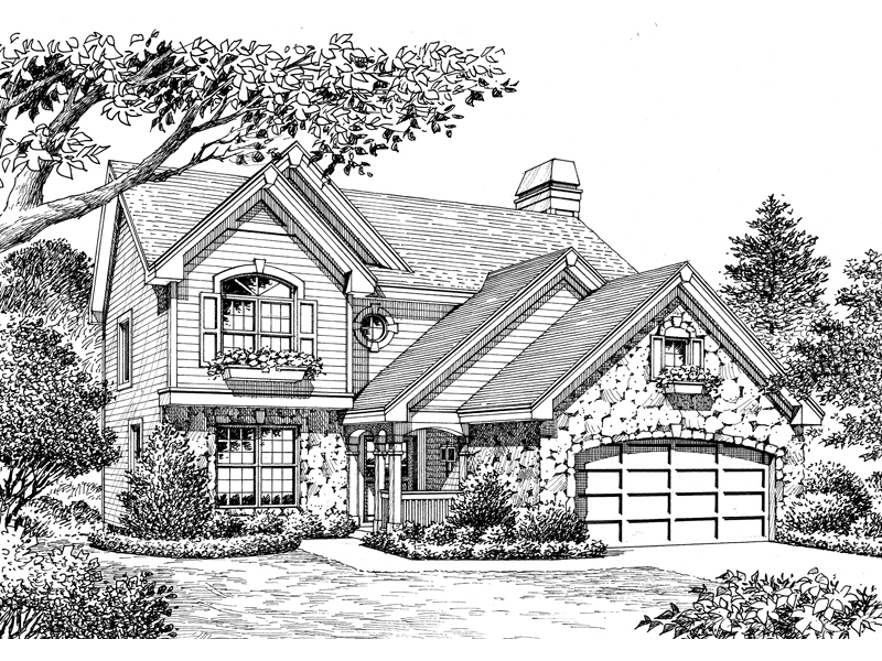 Country House Plan Front Image of House - 007D-0138 | House Plans and More