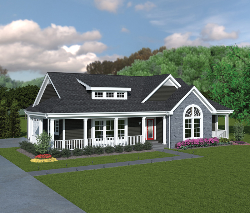 Ranch House Plan Front of Home 007D-0140