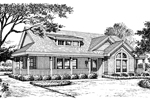 Arts and Crafts House Plan Front Image of House - 007D-0140 | House Plans and More