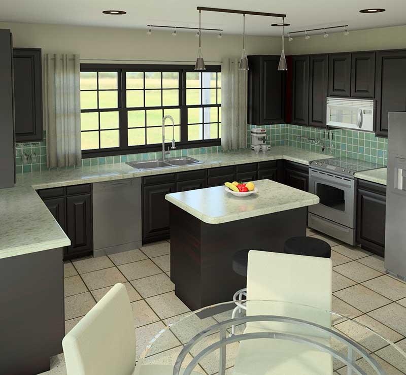 Ranch House Plan Kitchen Photo 01 007D-0140