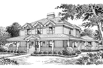Georgian House Plan Front Image of House - 007D-0141 | House Plans and More