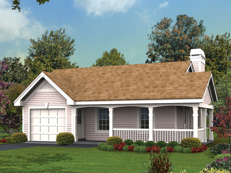 Cabin & Cottage House Plan Front of Home 007D-0142