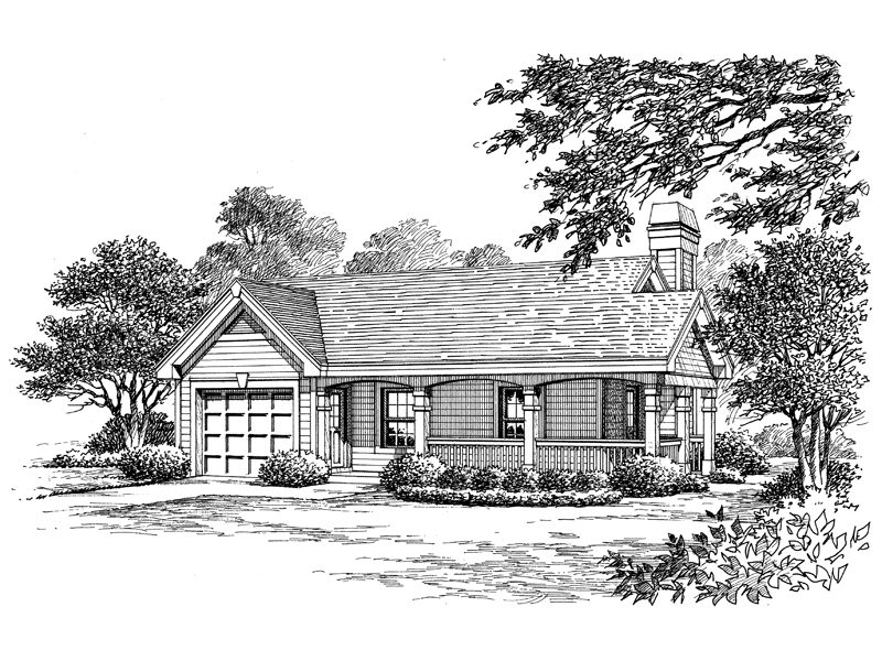 Ranch House Plan Front Image of House - 007D-0142 | House Plans and More
