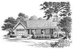 Cabin and Cottage Plan Front Image of House - 007D-0142 | House Plans and More