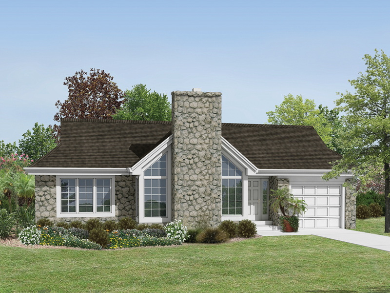 Country House Plan Front of Home 007D-0143