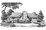 Ranch House Plan Front Image of House - 007D-0143 | House Plans and More