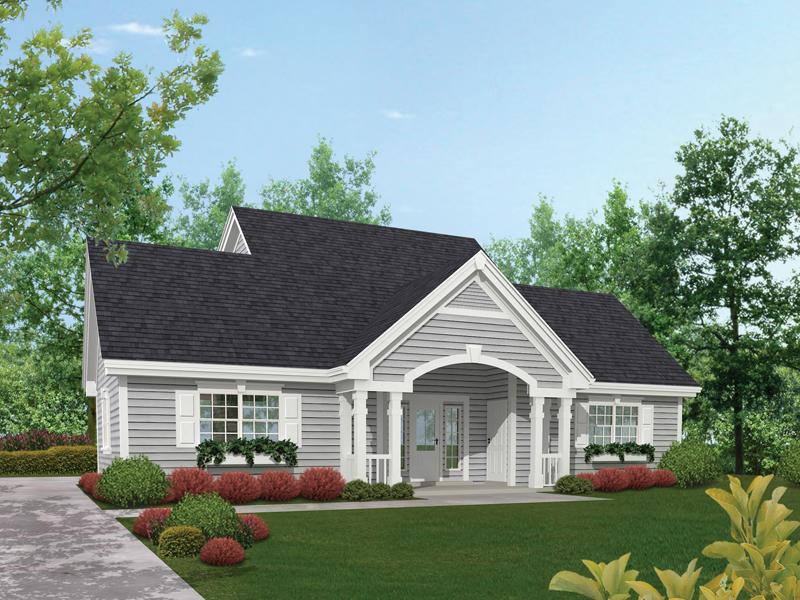 Saltbox House Plan Front of Home 007D-0144