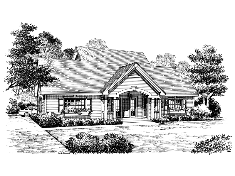 Cabin and Cottage Plan Front Image of House 007D-0144