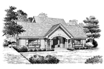 Saltbox House Plan Front Image of House - 007D-0144 | House Plans and More