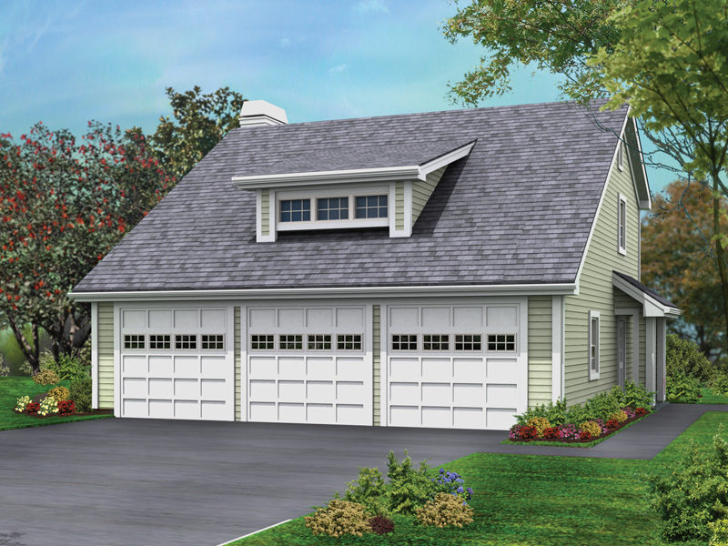 Three-Car Garage With Rear Apartment