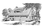 Cabin and Cottage Plan Front Image of House - 007D-0145 | House Plans and More