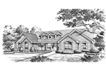 Ranch House Plan Front Image of House - 007D-0146 | House Plans and More