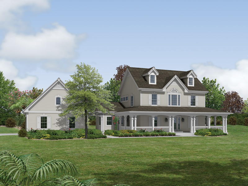 Country House Plan Front of Home 007D-0147