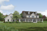 Breezeway And Patios Showcase This Country Home Plan
