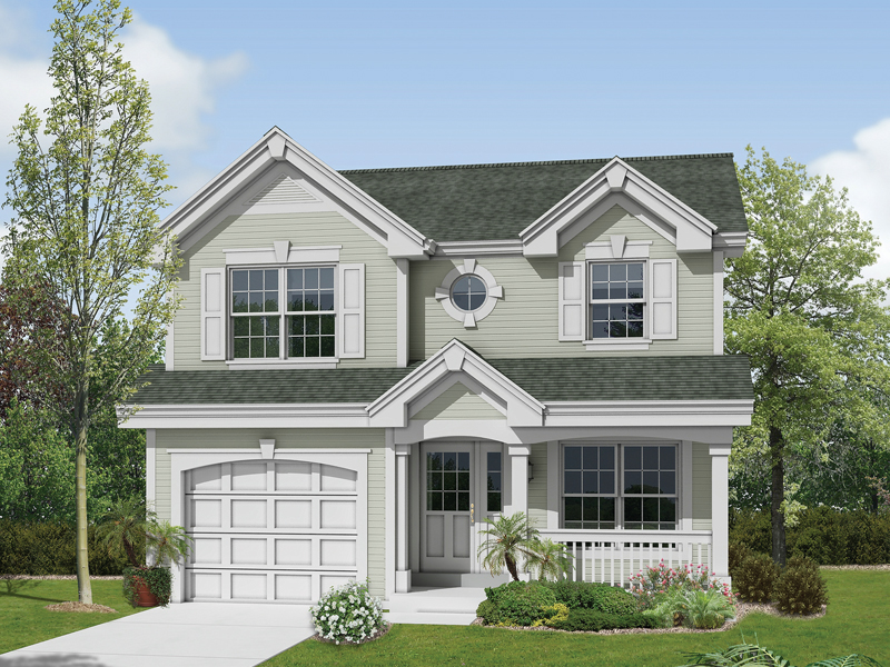 Country House Plan Front of Home 007D-0148