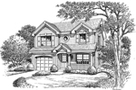 Traditional House Plan Front Image of House - 007D-0148 | House Plans and More