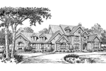 Country French Home Plan Front Image of House - 007D-0149 | House Plans and More
