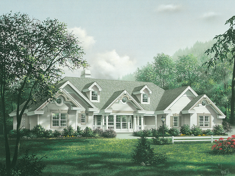 Ranch House Plan Front of Home 007D-0150