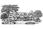 Ranch House Plan Front Image of House - 007D-0150 | House Plans and More