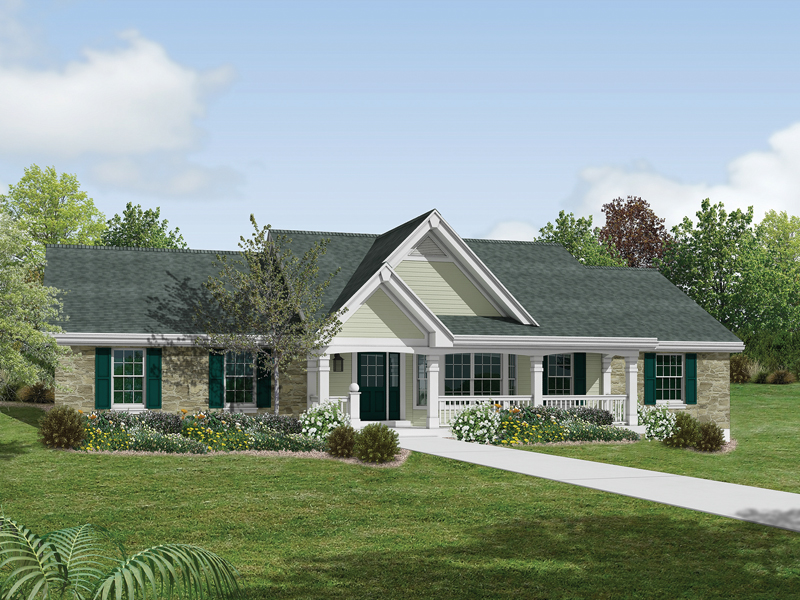 Country House Plan Front of Home 007D-0151