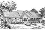 Ranch House Plan Front Image of House - 007D-0151 | House Plans and More