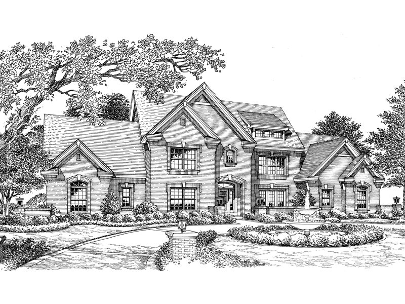 Luxury House Plan Front Image of House - 007D-0152 | House Plans and More