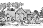 Country French Home Plan Front Image of House - 007D-0152 | House Plans and More