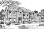 Early American House Plan Front Image of House - 007D-0153 | House Plans and More