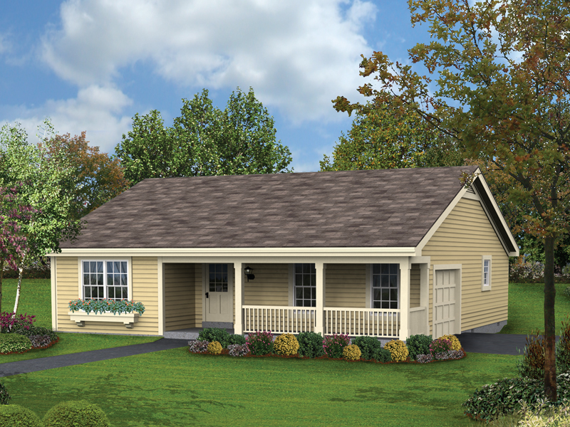 Country House Plan Front of Home 007D-0154
