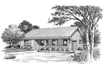 Ranch House Plan Front Image of House - 007D-0154 | House Plans and More