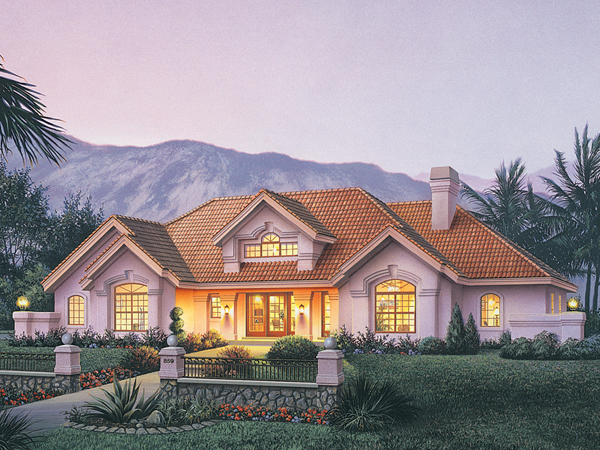 La jolla manor floridian home plan 007d 0155 house plans for House plans with great room in front